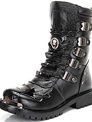 Men's Shoes Customized Materials Outdoor / Casual Boots Outdoor / Casual Snow Boots Chunky Heel Lace-up Black