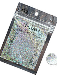 cheap -1pcs Nail Art Beautiful Color Silver Laser Glitter Powder Nail DIY Decoration L03