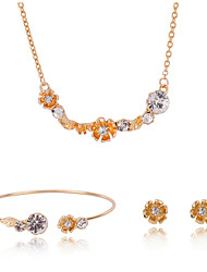 cheap -Women's Jewelry Set Necklace/Bracelet Necklace/Earrings Gift Boxes & Bags Adjustable Adorable Wedding Party Daily Casual Earrings