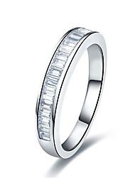 Anillos La imitación de diamante Plata de ley Chapado en Plata La imitación de diamante Moda Plata Joyas Boda 1 pieza