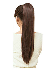 cheap -Light Brown Synthetic Ponytail Straight Cross Type Ponytail 22inch gram Medium(90g-120g) Quantity