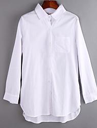 billige -Krave Dame - Ensfarvet Skjorte