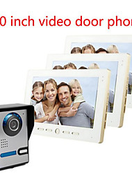 cheap -10 Inch Large Screen HD 700  Video Intercom Doorbell On A Villa Three