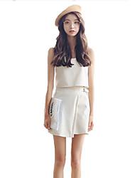 preiswerte -Damen Bluse Set - Solide, Mehrschichtig