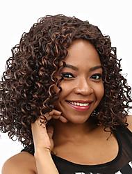 Ženy Hnědá #33 Kudrnaté Afro Umělé vlasy Bez krytky černá paruka paruky