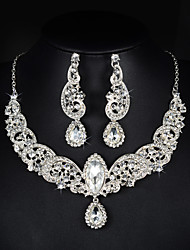 cheap -Jewelry Set Women's Anniversary / Wedding / Engagement / Party / Special Occasion Jewelry Sets Alloy RhinestoneNecklaces