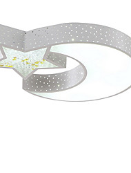 Flush Mount LED Modern Contracted Star and Moon Pattern Living Room /Bedroom /Kids Room / Hallway Metal