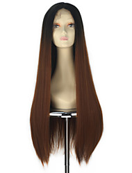 Ženy Rovné Rovné, bláznivé Ombre vlasy Umělé vlasy Se síťovanou přední částí paruky