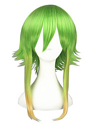Parrucche Cosplay Vocaloid Gumi Verde Medio Anime Parrucche Cosplay 45 CM Tessuno resistente a calore Uomo / Donna