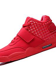 economico -Da uomo-Sneakers-CasualPiatto-Finta pelle-Nero Rosso Bianco