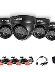 cheap -SANNCE® AHD 720P Dome Outdoor IR Cut CCTV Camera Kits Weatherproof Home Security System Cameras