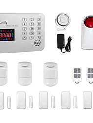 cheap -Android IOS APP Touch Keypad GSM SMS Home House Office Burglar Intruder Wireless Alarm System /Outdoor Strobe Siren