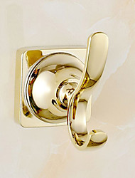cheap -Robe Hook Contemporary Brass 1 pc - Hotel bath