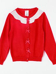 preiswerte -Mädchen Bluse-Lässig/Alltäglich Einfarbig Baumwolle Herbst Rosa / Lila / Rot