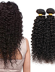 cheap -Indian Hair Curly / Kinky Curly Virgin Human Hair Natural Color Hair Weaves 4 Bundles 8-26 inch Human Hair Weaves Hot Sale natural black Human Hair Extensions