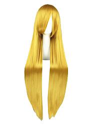 Perruques de Cosplay Code Gease Fay Lune Doré Long Anime Perruques de Cosplay 100 CM Fibre résistante à la chaleur Masculin / Féminin