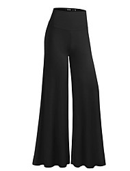 cheap -Women's Maternity High Rise Micro-elastic Wide Leg Business Pants, Casual Solid Polyester All Seasons