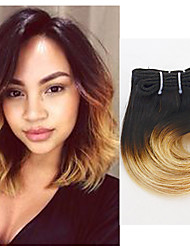 cheap -Indian Hair Body Wave Ombre Hair Weaves 4 Bundles 8inch Human Hair Weaves #T1B -27