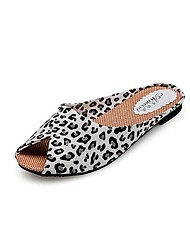 cheap -Women's Shoes PU Spring Summer Comfort Flat Heel Hollow-out for Casual White Black Golden Leopard