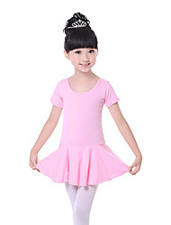 cheap -Ballet Dresses Children's Training Cotton Bow(s) Short Sleeve Natural Dress