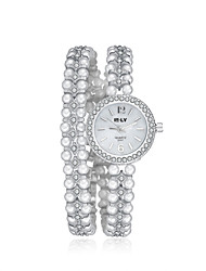 cheap -2016 Jewelora Pearl Luxury Noble Cubic Zircon Silver Quartz Women Party Watches Fashion Watch