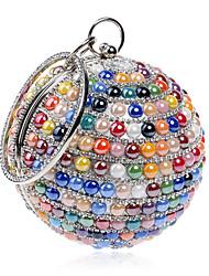 abordables -Femme Sacs Polyester Sac de soirée / Protection Imitation Perle / Bijoux acryliques pour Mariage / Soirée / Fête / Shopping Arc-en-ciel