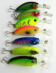 """7pcs pcs Manivelle leurres de pêche Manivelle g/Once mm/3-1/2"""" pouce,Plastique dur Pêche en mer Pêche d'eau douce Pêche de la perche"""