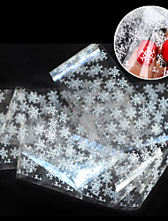 cheap -1pcs New Design White Snowflake Nail Art Transfer Foils Paper Nail Tips Sticker Decoration Craft