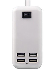 UK Plug Phone USB Charger Multi Ports cm Outlets 4 USB Ports 2.1A 2A 1A 0.5A AC 100V-240V