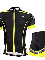 Nuckily Maillot et Cuissard de Cyclisme Homme Manches Courtes Vélo Maillot Cuissard  / Short Ensemble de Vêtements Résistant aux
