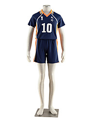 abordables -Inspiré par Haikyuu Hinata Syouyou Manga Costumes de Cosplay Costumes Cosplay Couleur Pleine Manches Courtes Tee-shirt Short Pour Homme