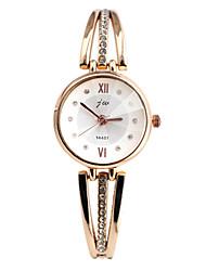 cheap -Women's Quartz Simulated Diamond Watch Bracelet Watch Imitation Diamond Casual Watch Alloy Band Elegant Fashion Silver Gold