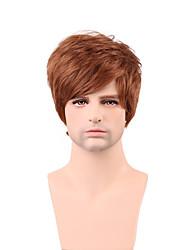economico -bello breve a strati diritta parrucca di capelli umani senza cappuccio capelli umani di 100% degli uomini