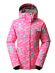cheap -GSOU SNOW Women's Ski Jacket Waterproof Thermal / Warm Windproof Ultraviolet Resistant Insulated Moisture Permeability Wearable Breathable