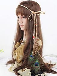 preiswerte -Frauen weben Stirnbänder Feder Anhänger Mode-Böhmen 1 Stück