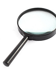 cheap -4X 100mm Diameter Lens Handle Straight Shank Reading Magnifier Magnifying Glass