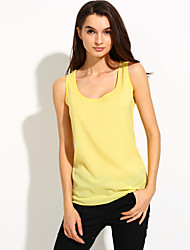 cheap MariEstilo-Women's Casual Tank Top - Solid Colored