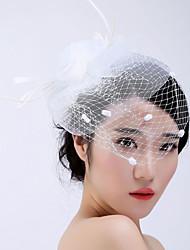 tulle basketwork fjer fascinators headpiece klassisk feminin stil