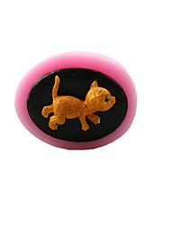 Недорогие -кошка шоколад силиконовые формы, формы торта, мыло формы, отделочные инструменты Формы для выпечки
