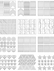 cheap -Diecut Manicure Stencil DIY Mold Nail Stamping Template Daily Fashion High Quality