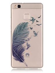 economico -Per retro IMD Piume TPU Morbido Copertura di caso per Huawei Huawei P9 / Huawei P9 Lite / Huawei P8 Lite