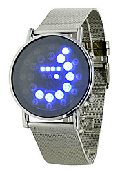 Fashion Men's Black Alloy Date Digital LED Watch Bracelet Sport Watches