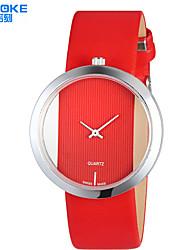 baratos -SYNOKE Mulheres Relógio de Moda Impermeável PU Banda Casual Preta / Branco / Vermelho / Aço Inoxidável