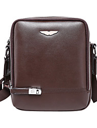 cheap -Men Bags Cowhide Crossbody Bag for Casual Formal Outdoor Office & Career All Seasons Black Brown