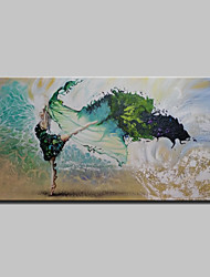 cheap -Hand Painted Modern Abstract Girl Oil Paintings On Canvas Wall Art Picture With Stretched Frame Ready To Hang