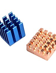 Copper Aluminium Cooling Heatsink for Raspberry Pi B+ & Raspberry Pi 2 RPi Set of 2 Heat Sinks