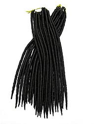 Недорогие -Волосы для кос Вязаные дредлоки / Дреды / Faux Locs 100% волосы канекалона 24 корня / пакет косы волос Расширения Dreadlock / Искусственные дреды / Искусственные дреды в технике Кроше