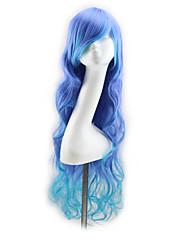 mutli-color 80 cm de comprimento de onda cabelo sintético perucas perucas cosplay