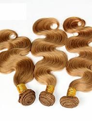 billige -3 Bundler Brasiliansk hår Krop Bølge Jomfruhår Menneskehår, Bølget Menneskehår Vævninger Menneskehår Extensions Dame