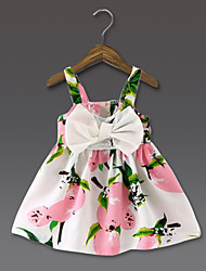 economico -Vestito Girl Casual Fantasia floreale Poliestere Estate Rosa / Giallo